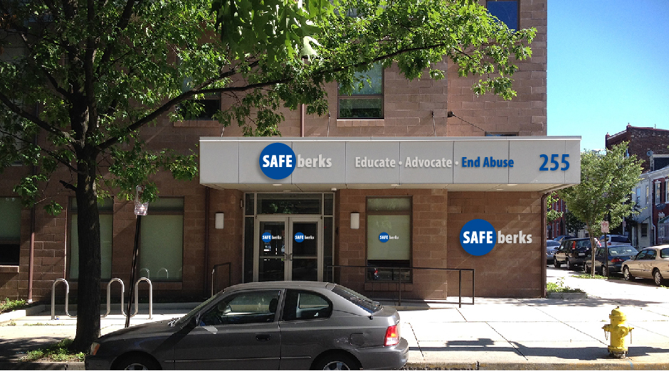 Safe Berks Headquarters, signage