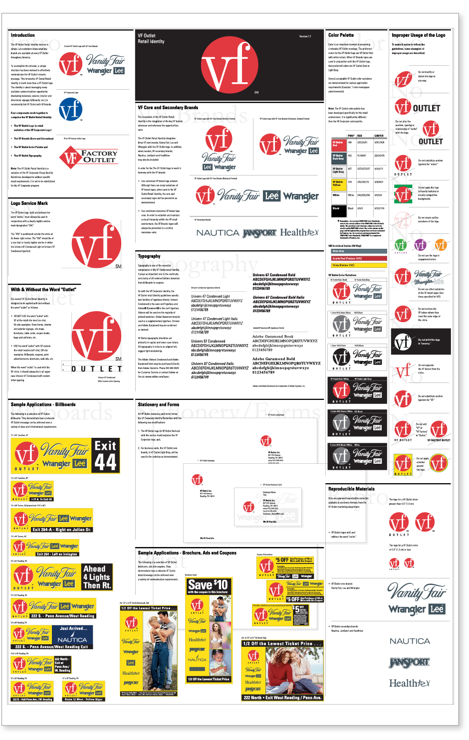 VF Outlet Identity Poster