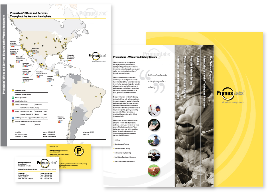 PrimusLabs Global Map Stationery Promotional Materials, yellow