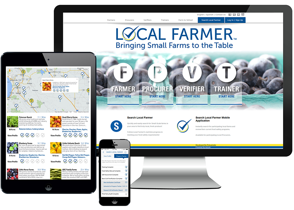 PrimusLabs Local Farmer Program Web Apps, tablet, mobile and computer